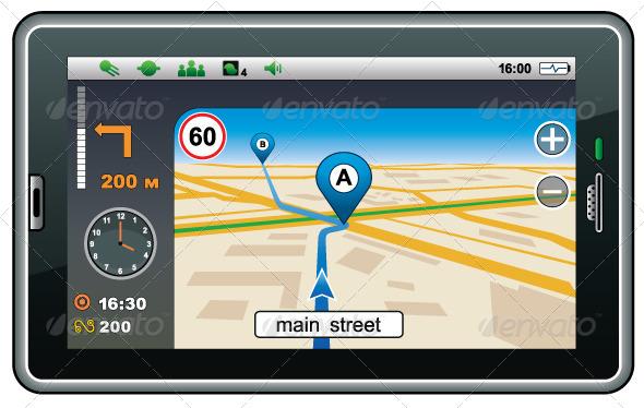 GPS Navigator - Technology Conceptual