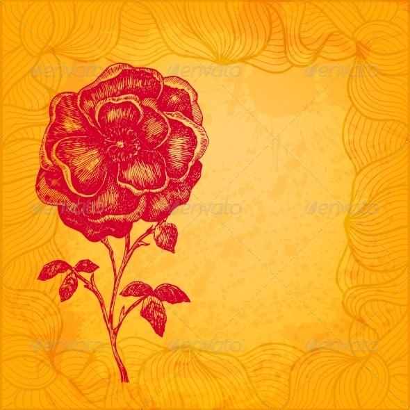 Floral Vector Illustration - Backgrounds Decorative