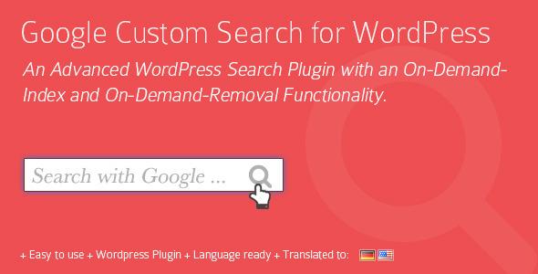 Google Custom Search for WordPress Plugin - CodeCanyon Item for Sale