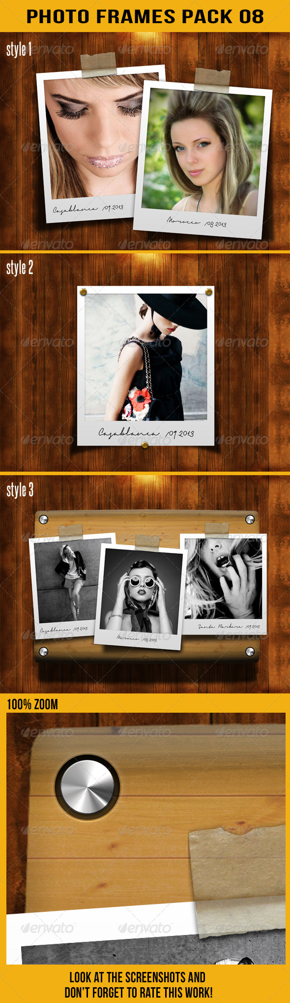 Photo Frames Pack 08 - Artistic Photo Templates