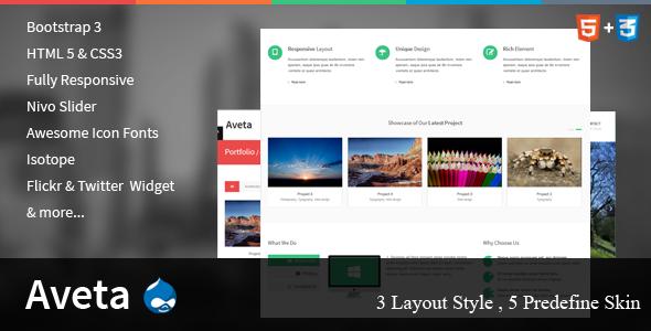 Aveta - Responsive Drupal Theme - Creative Drupal