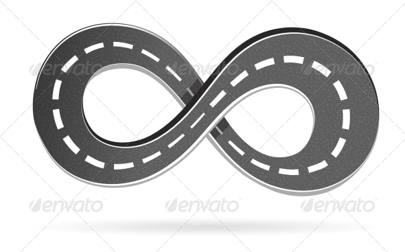 Road in the Shape of an Infinity Sign - Man-made Objects Objects