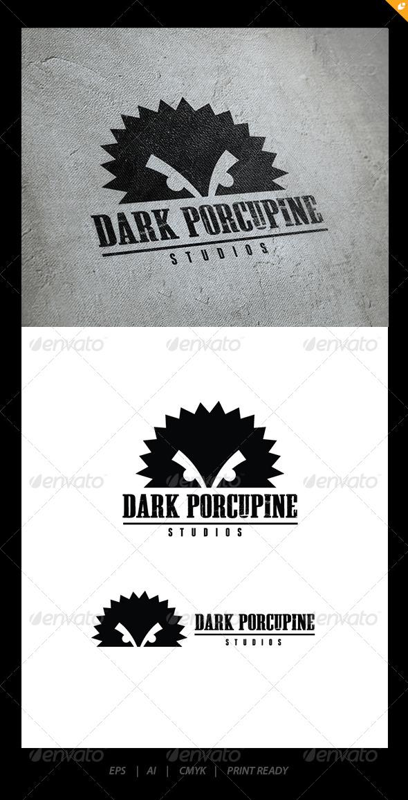 Dark Porcupine - Animals Logo Templates