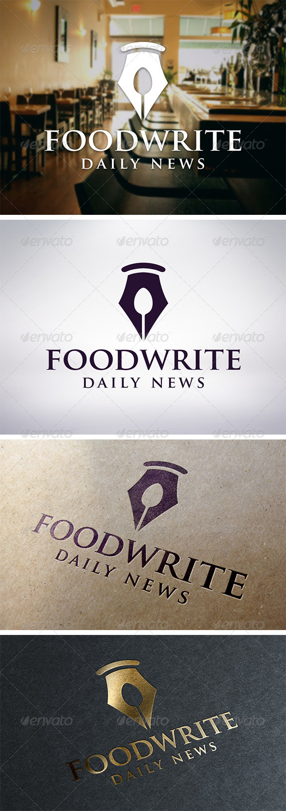 Recipe Writer Logo Template - Food Logo Templates