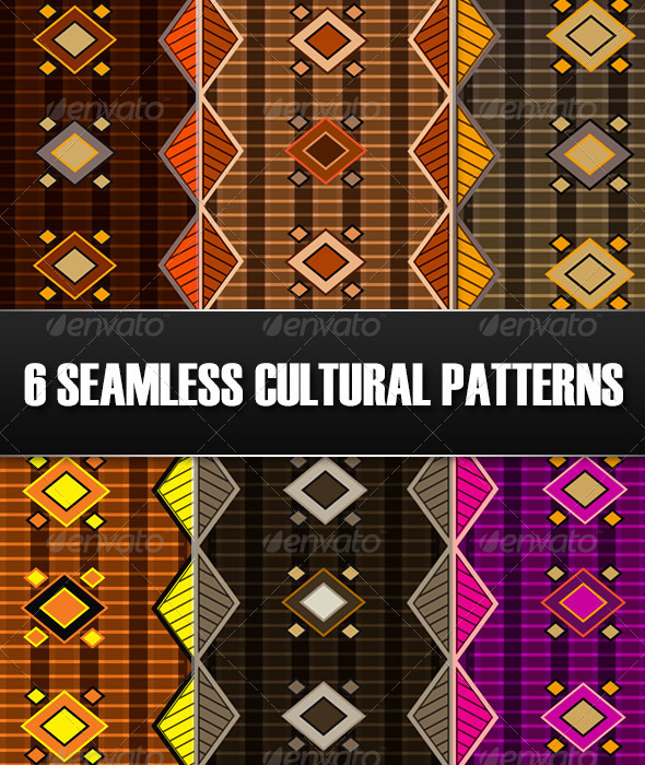 6 Seamless Cultural Patterns - Patterns Decorative