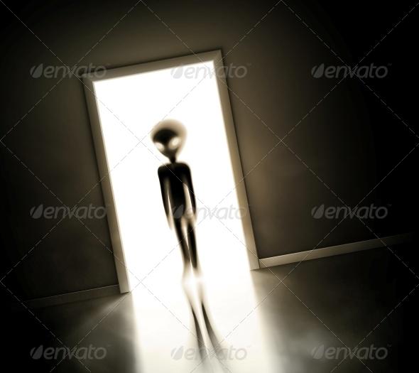 Alien at Door - Monsters Characters