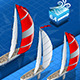 Isometric Sailships in Navigation in Rear View
