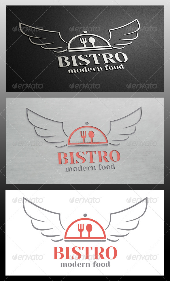 Bistro Wings Logo Template - Food Logo Templates