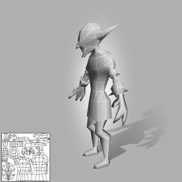 Goblin  Lowpoly - 3DOcean Item for Sale