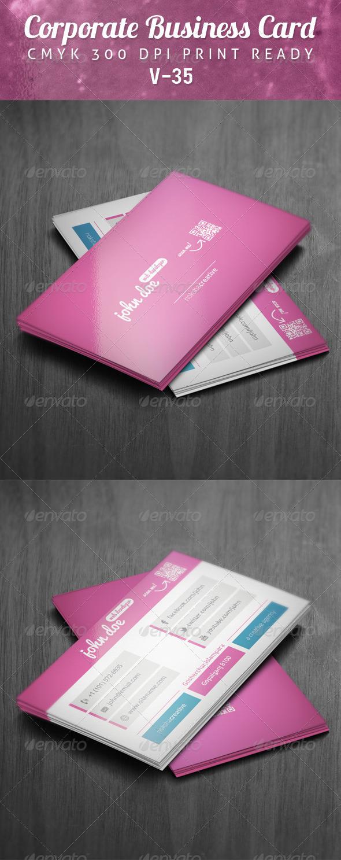 Corporate Business Card V-35 - Corporate Business Cards