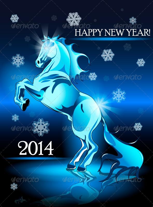 New Year Horse - New Year Seasons/Holidays