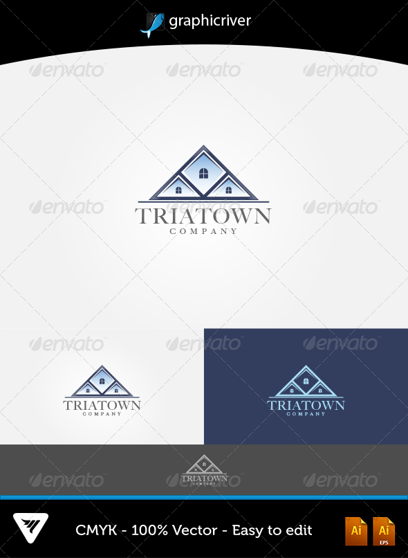 TriaTown Logo - Logo Templates