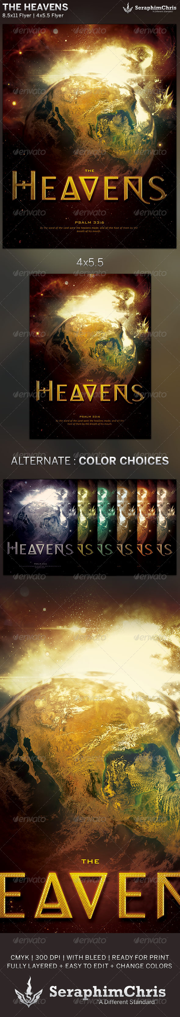 The Heavens: Church Flyer Template - Church Flyers