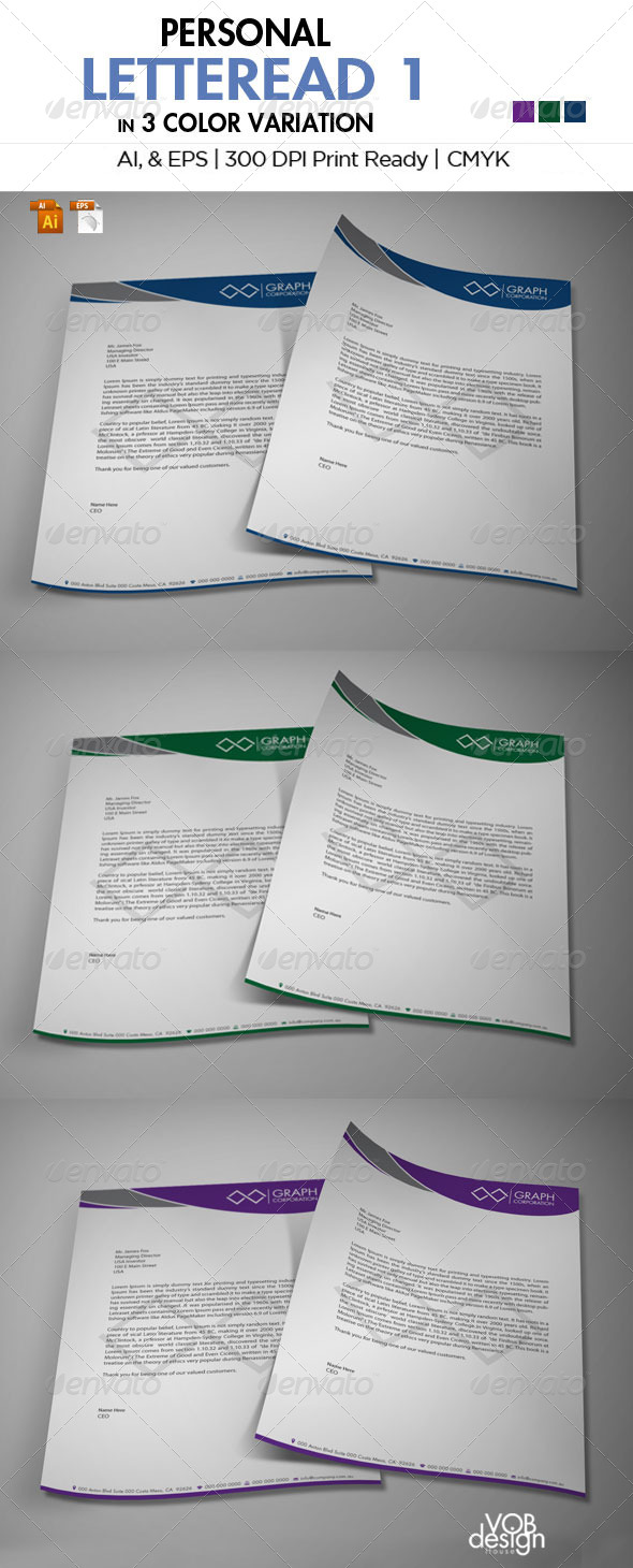 The Letterhead  - Stationery Print Templates