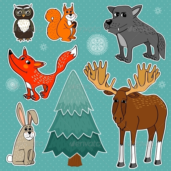 Winter Forest Animals - Animals Characters