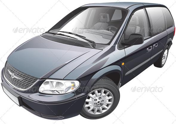 American Minivan - Vectors