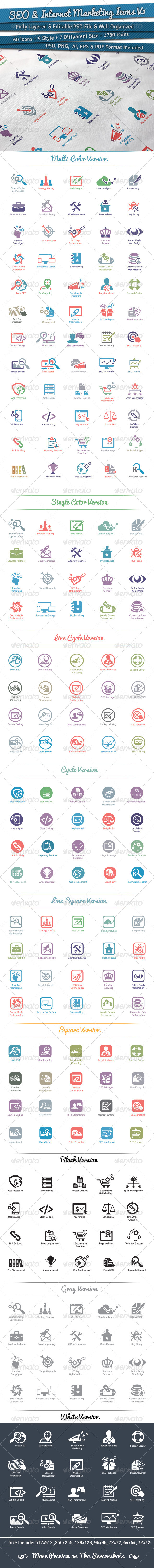 60 SEO Icons   Volume 1 - Icons