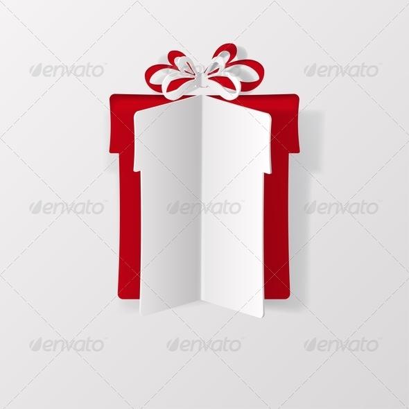 Gift Box Cut from Paper - Birthdays Seasons/Holidays