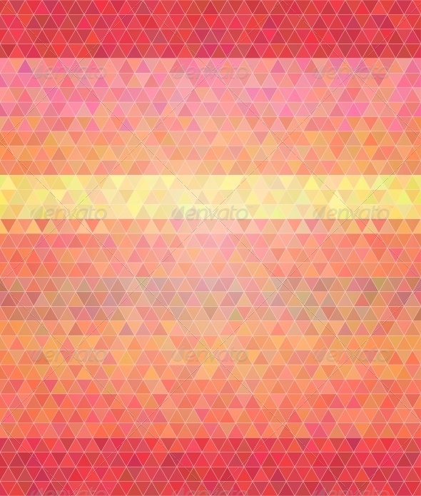 Abstract Flat Style Polygon Background.  - Backgrounds Decorative