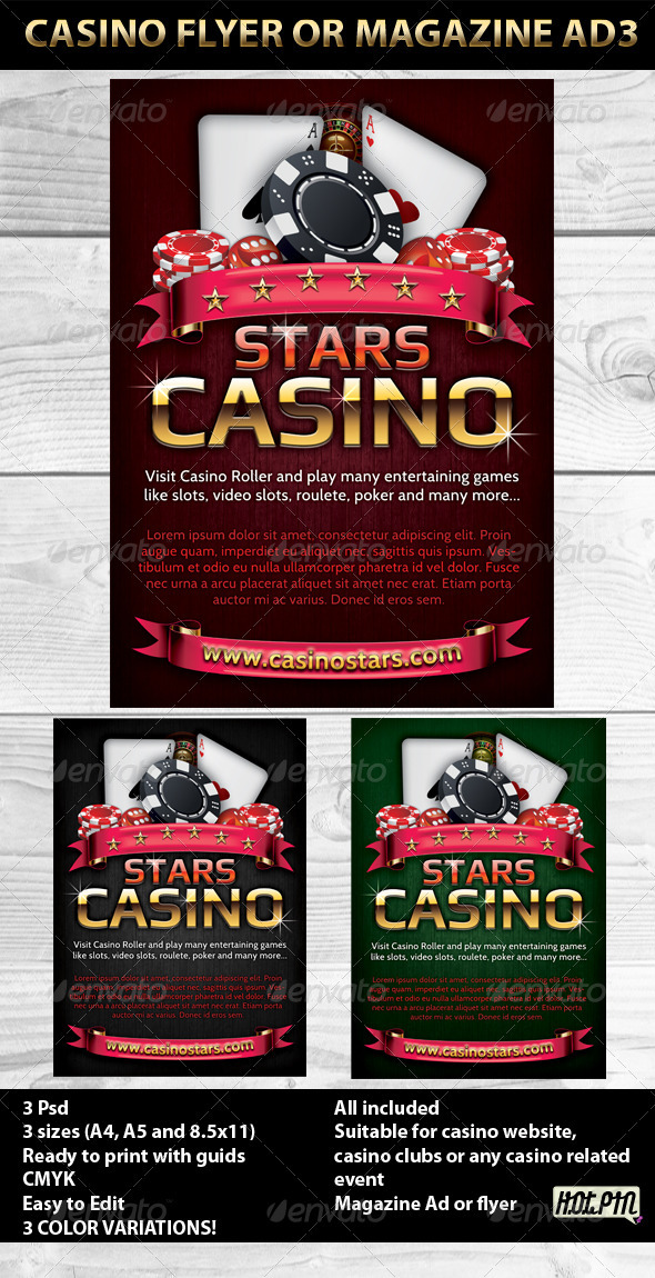 Casino Magazine Ads or flyers Templates 3 - Clubs & Parties Events