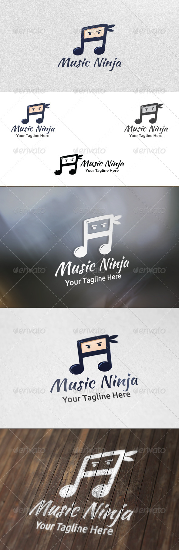 Music Ninja - Logo Template - Humans Logo Templates