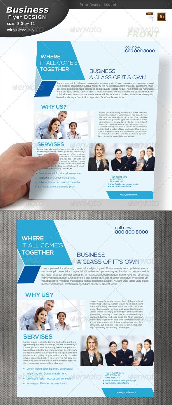 Busines Flyer Design  - Flyers Print Templates