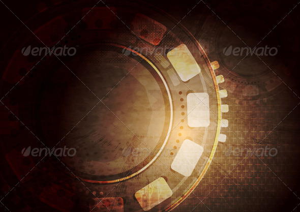 Dark Grunge Technology Vector Background - Web Technology