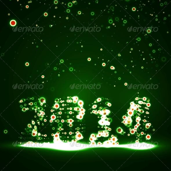 New Year Celebration Illustration - New Year Seasons/Holidays