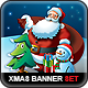 Santa Claus & Friends Christmas Web Banner Set - GraphicRiver Item for Sale