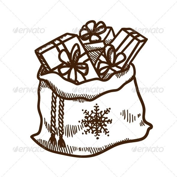 Bag Full of Presents. - Christmas Seasons/Holidays