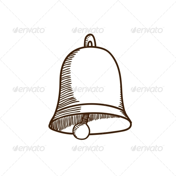 Decoration Bell Sketch. - Christmas Seasons/Holidays