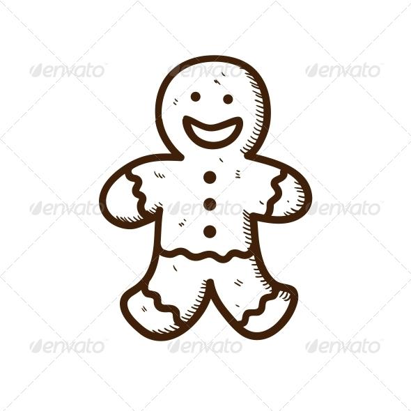 Gingerbread Cookie Man - Christmas Seasons/Holidays