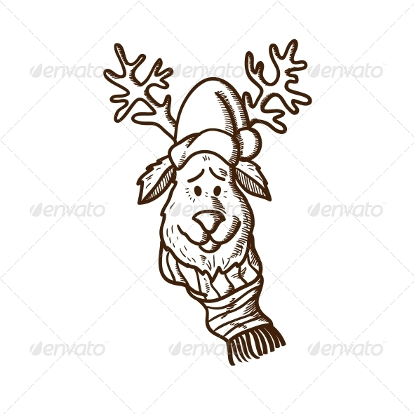 Reindeer in Holiday Clothes - Christmas Seasons/Holidays