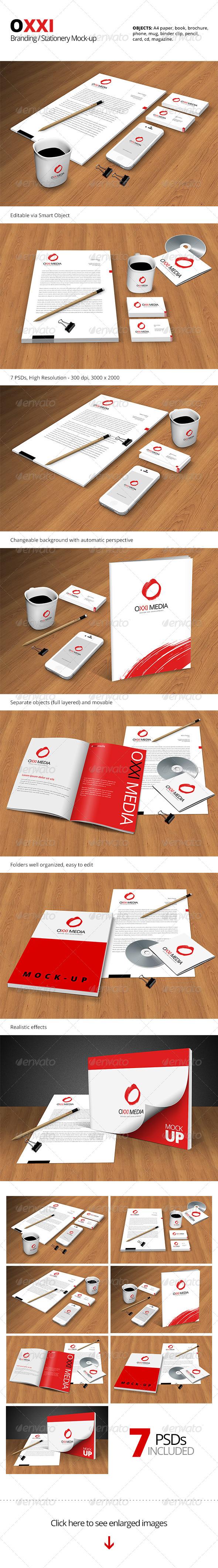 OXXI Branding / Stationery Mock-up - Stationery Print