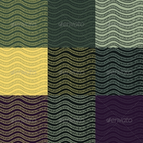 Set of Abstract Seamless Patterns. - Patterns Decorative