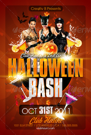 halloween bash flyer templates by creativb graphicriver