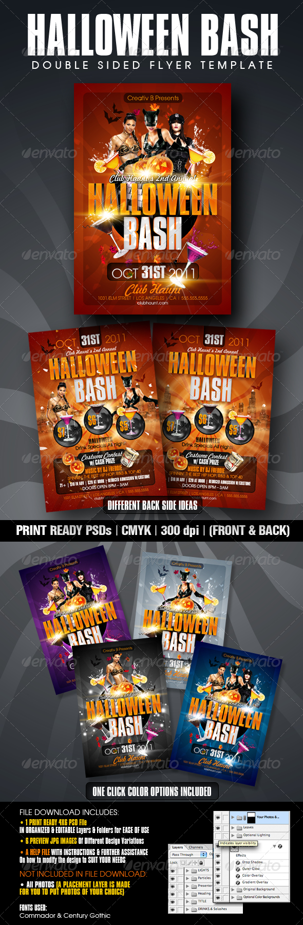 Halloween Bash Flyer Templates - Clubs & Parties Events