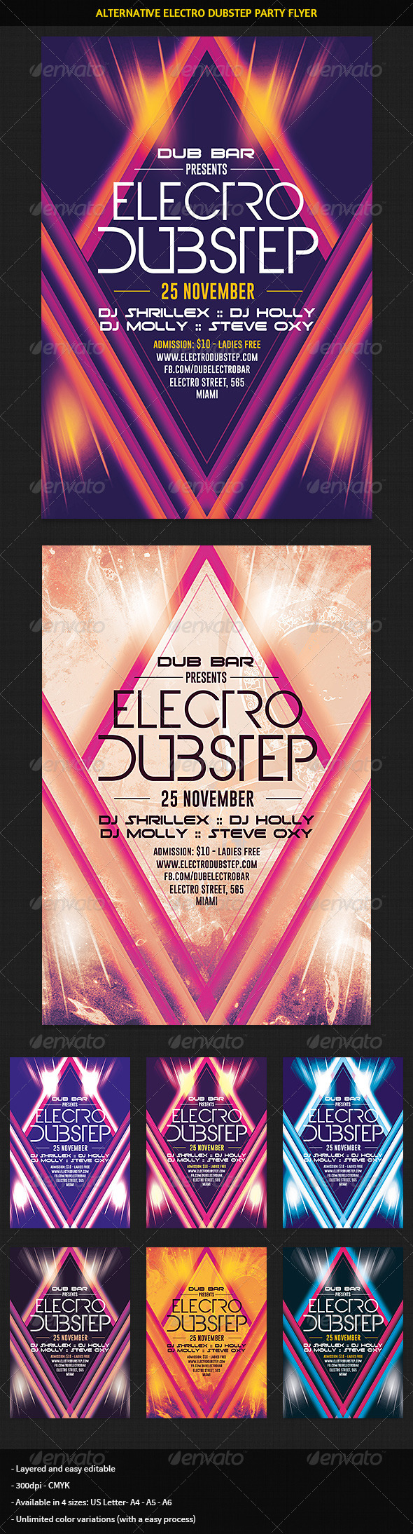 Alternative Electro Minimal Party Flyer - Clubs & Parties Events