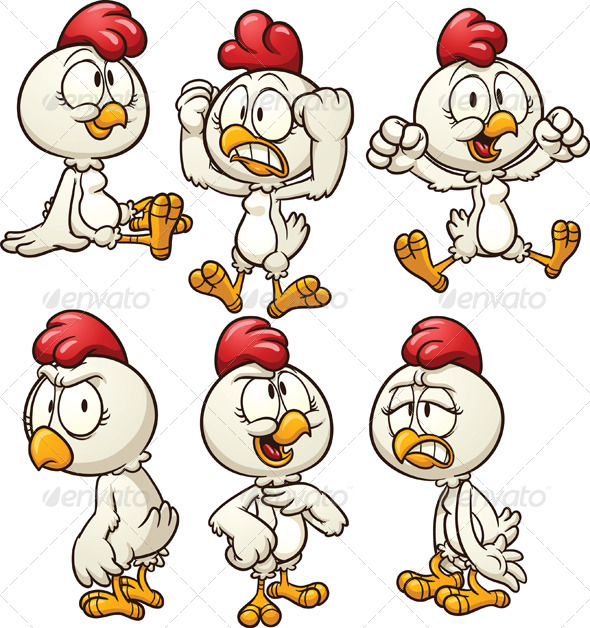 Cartoon Hen - Animals Characters