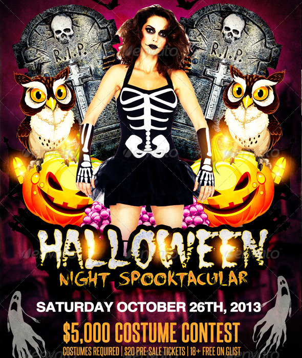 Halloween Night Spooktacular - Events Flyers
