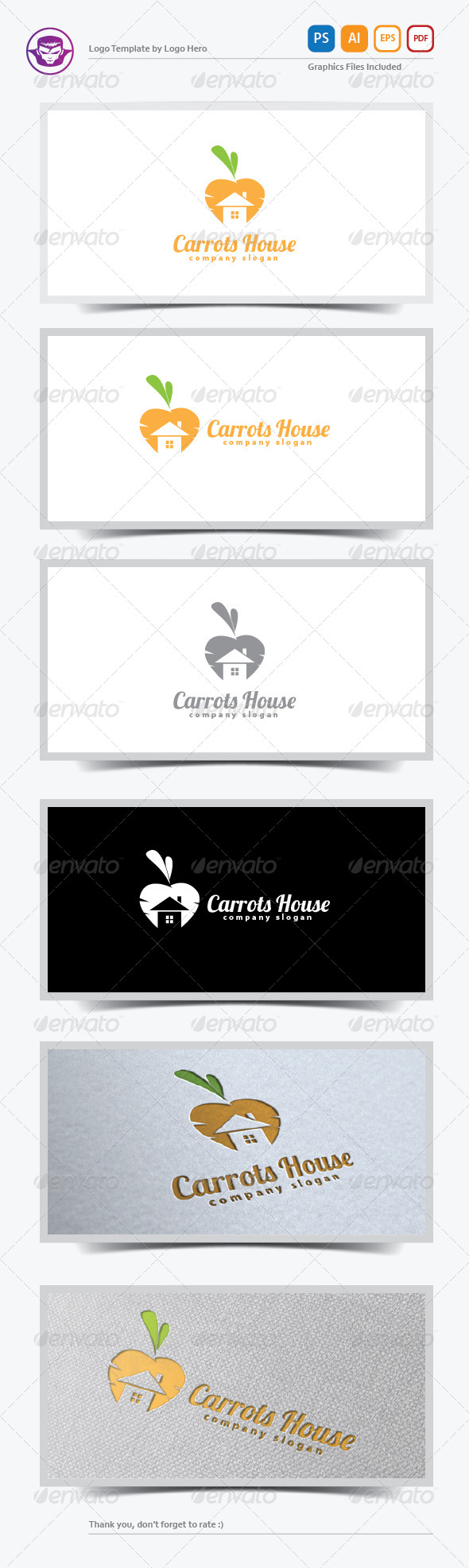 Carrots House Logo Template - Buildings Logo Templates