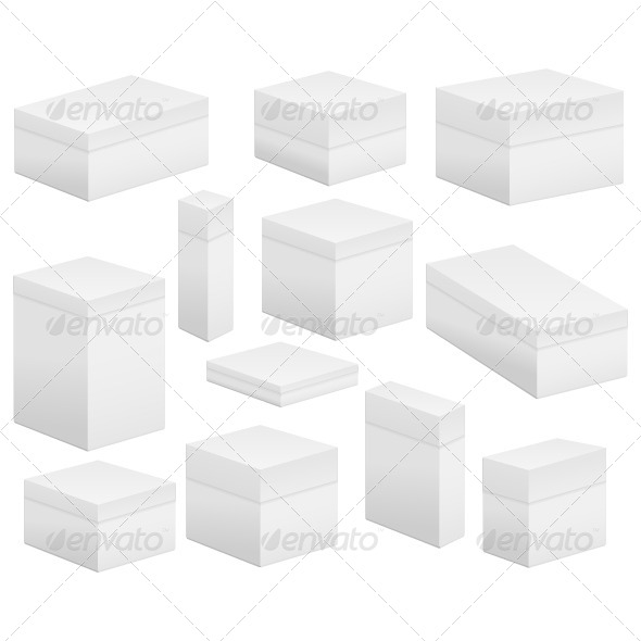 Blank Boxes - Objects Vectors