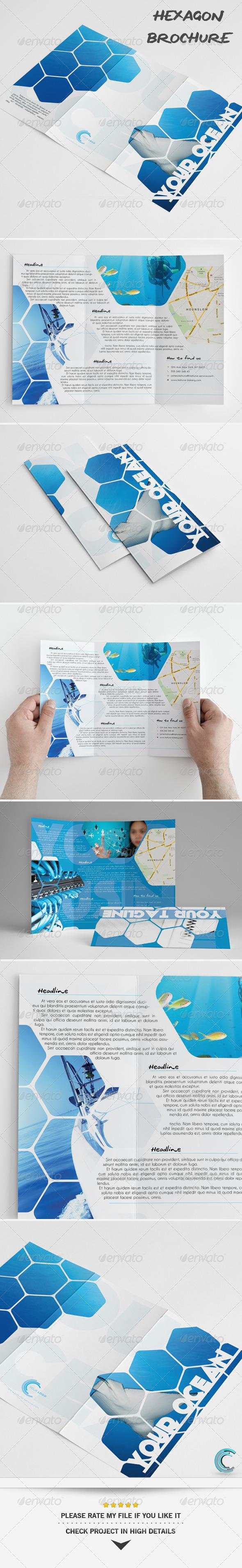Hexagon Universal Brochure - Miscellaneous Print Templates