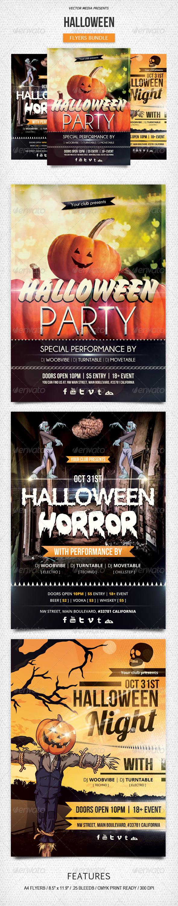 Halloween - Flyers Bundle - Holidays Events