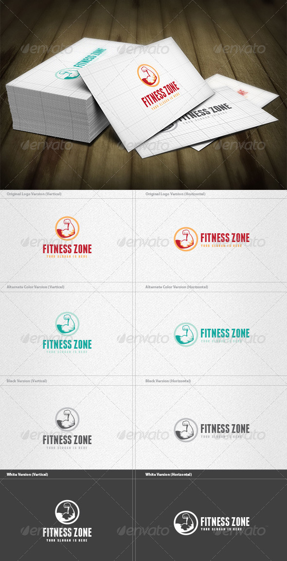 Gym & Fitness Logo - Humans Logo Templates