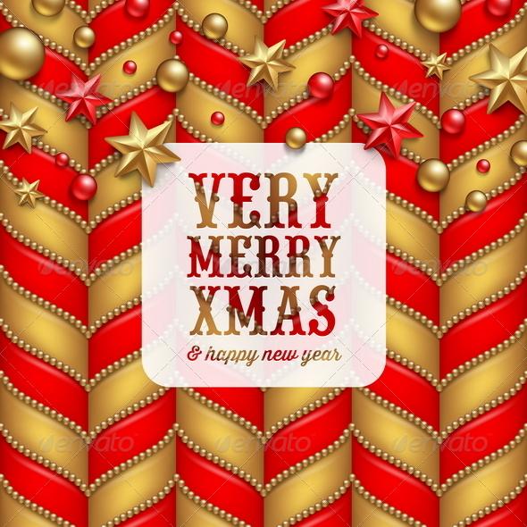 Christmas Vector Background with Greetings - Christmas Seasons/Holidays
