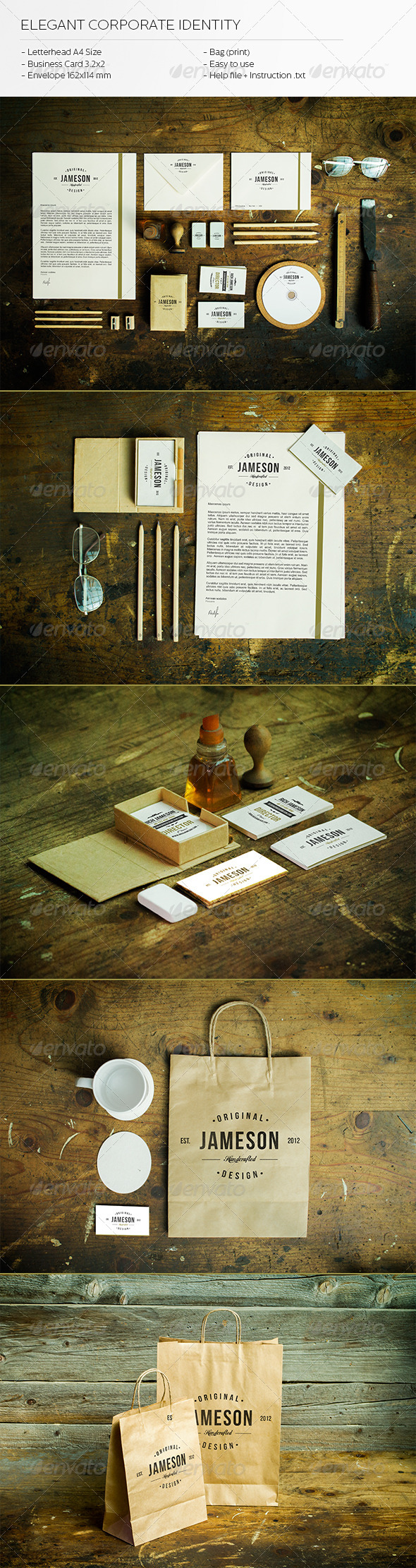 Elegant Corporate Identity - Stationery Print Templates