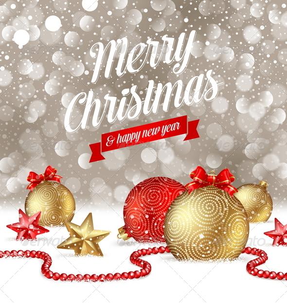 Christmas Greetings and Holidays Decor on Snow - Christmas Seasons/Holidays