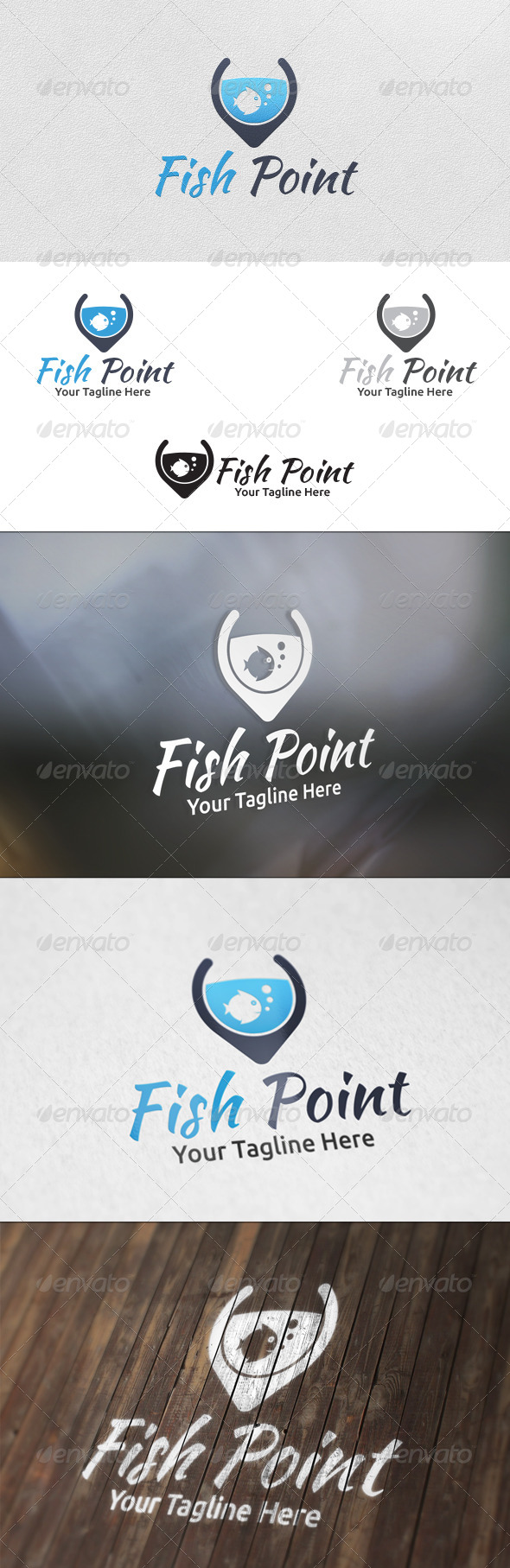 Fish Point - Logo Template - Animals Logo Templates