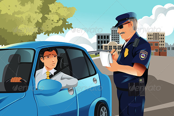 Traffic Violation - People Characters